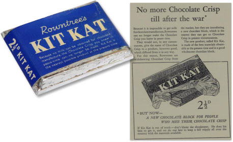Blue KitKat wrapper 1942