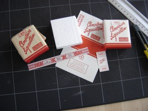 "Original and Repro pack of ""Amateurs Sigaretten""."