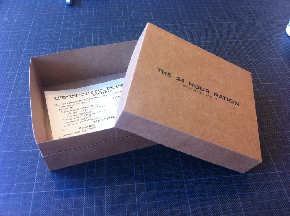 24 hour Ration box - step 9