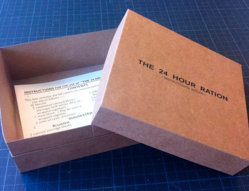 How to assemble a 24 hour Ration box
