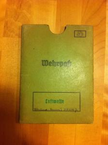Wehrpass sleeve front