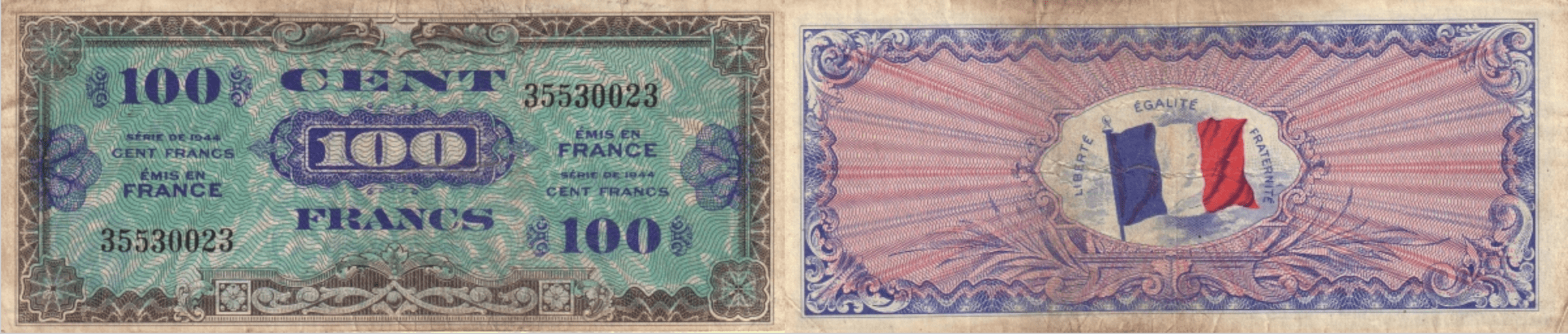 There Were Two Issues For Use In Allied Controlled Areas Of Occupation The First Issue Is Known As Supplemental And Has A French Flag On Reverse