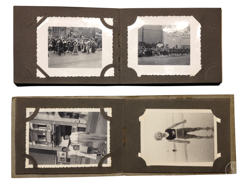 Pages of the small pocket Photo albums